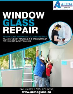 If you looking for window glass repair in Mississauga, contact Aetna Glass and Mirrors. Window Glass Repair, Broken Mirror, Glass Replacement, Glass Door, Mirrors, Investing, Windows, Mirror, Window