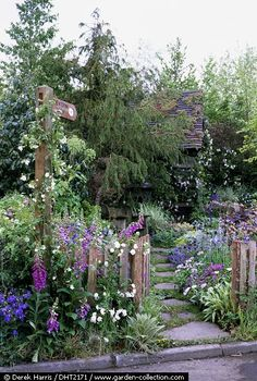 Country garden.... with a beautiful garden stone path too!!!!