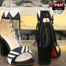 Yellow Beaded Heel - P H Menlyn Mall ! gelber perlenabsatz - p h menlyn mall ! talon perlé jaune - p h menlyn mall Xhosa Attire, Traditional Wedding Decor, Shweshwe Dresses, African Traditional Wedding, Beaded Shoes, Fashion Shoes, Fashion Outfits, African Fashion, African Style