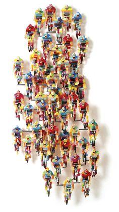 #TourDeFrance Vertical - Wall Sculpture By #DavidGerstein - #HorizonArtsMiami Gallery