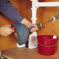 All you need to unclog a stubborn drain are the right tools and determination. Easily unplug sink, bathtub, and other drains with tips from This Old House. Clear Clogged Drain, Clogged Toilet, Clogged Drains, Kitchen Sink Clogged, Unclog Sink, Kitchen Sinks, Kitchen Cabinets, Floor Drains, Bathroom Plumbing
