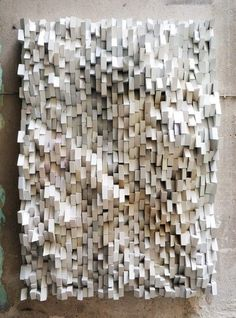 This piece of art displays texture very well. You can see all of the ridges and you can tell how it feels. The straight parts on the piece are clearly smooth. Where the straight pieces meet are very pointy, creating a harder texture.