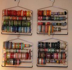 Great Idea for storing ribbon rolls