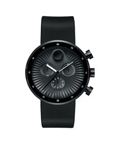 Movado | Movado Edge Men's Large Chronograph Watch With Black Aluminum Dial with Strap | Movado US