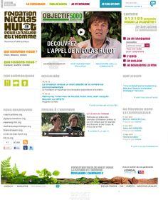 Etude et analyse du site web la fondation Hulot www.lecil.fr
