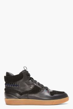PAUL SMITH JEANS Black Leather  Suede Dreyfuss Sneakers