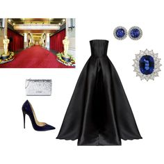 Black Tie Invited by envogueover40 on Polyvore featuring Mode, Alex Perry, Christian Louboutin, Love Moschino and Tiffany & Co.