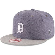 New Era Detroit Tigers 2 Tweed 9FIFTY Snapback Cap ($32) ❤ liked on Polyvore featuring men's fashion, men's accessories, men's hats, mens snapback hats and mens caps and hats