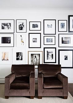 velvet statement chairs + an inspired gallery wall.