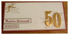 Kreatives aus Papier Stampin UP Karte Goldene Hochzeit Zahlen