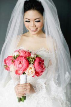 Love my hand bouquet and wedding gown sooo much! #handbouquet #weddinggown #sabrinalace #bride