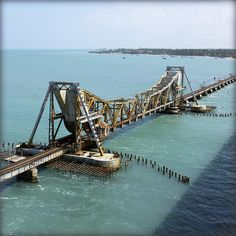 India. Railway between India and Rameswaram... | por lalie sorbet