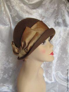 """шляпка валянная """"Возвращаясь в 20-е"""" - шляпка валяная,валяная шляпка,шляпки валяные"""