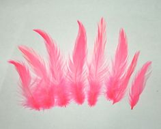 7 gram bag of Pretty pink rooster hackle feathers $2.49 approx 150 count Shipping discounts given on multiple bag purchases Other colors available in our big ebay store. #flytying #roosterhackle #hacklefeathers #pinkfeathers #regalia