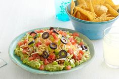 Layered Fiesta Dip recipe Made this, loved it, but I left out the  olives and substituted sour cream. It was delish~Kristin
