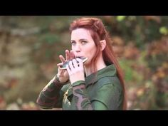"""Wonderful ocarina artist Laura Sexauer playing """"The Misty Mountains"""" in my first Tauriel costume =)"""