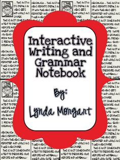 Free Interactive Writing and Grammar Notebook