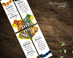 Printable Harry Potter Bookmarks   Wizard by MirkwoodScribes