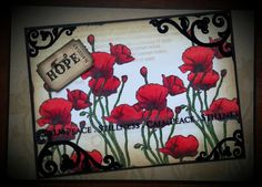 Sheena Douglass Crafty Projects, Projects To Try, Army Crafts, Sheena Douglass, Spectrum Noir Markers, Poppy Cards, Crafters Companion Cards, Easel Cards, Pretty Cards