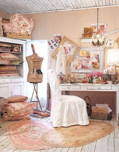 Creating a crafting room from @Country Living Magazine