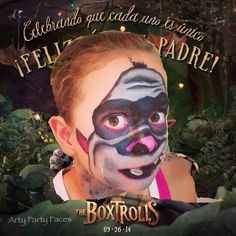 """Box Trolls Movie """"Fish"""" Facepaint Design - - Southern Outdoor Cinema expert tip for theming and enhancing an outdoor movie event."""