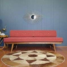 1950s Mid Century Coachwood Daybed :: 2 Available