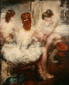 """ Dressing Room (exh. 1953). Grigory Gluckmann (Russian/American, 1898-1973)…"