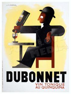 Dubonnet French Advertising Poster Print Vintage by FoxgloveMedia
