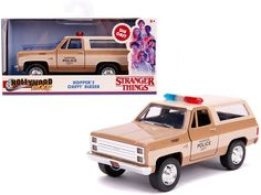 "Hopper's Chevrolet Blazer ""Hawkins Police Dept."" ""Stranger Things"" (2016) TV Series ""Hollywood Rides"" 1/32 Diecast Model Car by Jada Chevrolet Blazer, Chevy, Jada Toys, Nissan Skyline Gt, Pontiac Firebird, Diecast Model Cars, Best Model, Classic Tv, Stranger Things"