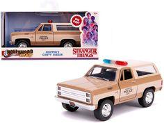 "Hopper's Chevrolet Blazer ""Hawkins Police Dept."" ""Stranger Things"" (2016) TV Series ""Hollywood Rides"" 1/32 Diecast Model Car by Jada Plymouth Gtx, Chevrolet Blazer, Chevy, Jada Toys, Nissan Skyline Gt, Pontiac Firebird, Diecast Model Cars, Best Model, Classic Tv"