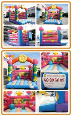 AQ01531(4*5*4m/13.12'*16.4'*13.12') Fruit bouncer.The bouncer with fruits printing look delicious. This characteristic and interesting bounce house makes kids enjoy jumping happily.It will attract a lot of children with the new design.