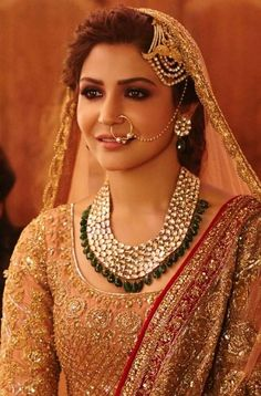 Bollywood has given us some of the most drool-worthy bridal looks thanks to style icons such as Anushka Sharma, Alia Bhatt, Deepika Padukone and Sonam Kapoor and their various films. Bollywood Stars, Bollywood Fashion, Bollywood Actress, Anushka Sharma, Pakistani Bridal, Indian Bridal, Bollywood Bridal, Bridal Mehndi, Bridal Outfits