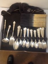1847 rogers bros silverware 80 Piece Centennial Edition 12 Place Setting - $115 Silverware Sets, Flatware Set, Place Setting, Tableware, Ebay, Dinnerware, Tablewares, Dishes, Place Settings