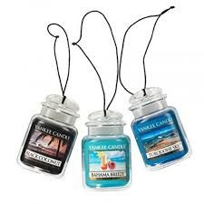 The subtle hanging Yankee Candle Car Jar Hanging Air Freshener is for the strong scent repellers. It comes with innumerable options of fragrances to choose from. Owing to its aesthetic look and aroma, it has been reviewed as one of the best smelling car air fresheners being sold by Yankee Candle   hanging car air freshener   cute car air fresheners   air fresheners for car... Click here for more..