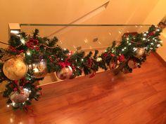 Festone natalizio con palle a decoupage 🎄