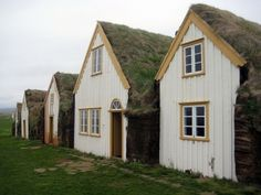 The Museum in Glaumbær, Skagafjörður, Iceland. Traditional Peat house of old Iceland. http://www.skagafjordur.is/default.asp?cat_id=1065