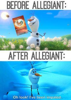 My life ~Divergent~ ~Insurgent~ ~Allegiant~<<Lol, my exact reaction! Thank you Olaf! Divergent Memes, Divergent Hunger Games, Divergent Fandom, Divergent Trilogy, Divergent Insurgent Allegiant, Insurgent Quotes, Divergent Fanfiction, Tfios, Castle Tv