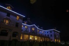 Stanley hotel with bloodmoon night