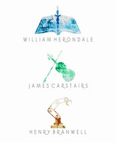 The Infernal Devices Watercolor | William Herondale | James Carstairs | Henry Branwell