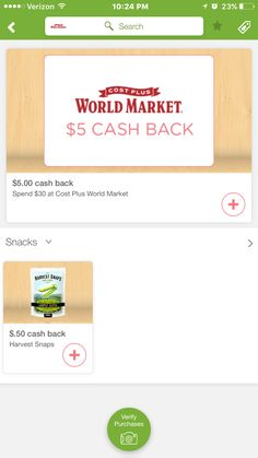 join Ibotta app save at the stores you  are already shopping at save on things you already purchase. earn cash off at the register and also earn money towards gift card.