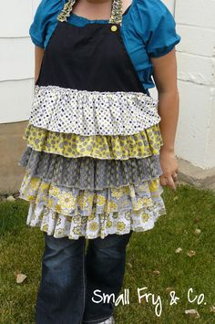 Small Fry & Co. : Easy Cheaters Method Ruffle Front Apron