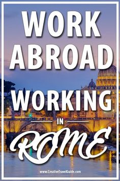 Raksha from The Roving Heart shares her experience working in Rome, Italy with Workaway. Travel Jobs, Work Travel, Italy Travel Tips, Travel Europe, European Travel, Budget Travel, Italy Destinations, Packing For Europe, Hotels
