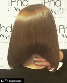 Stunning Undercut Aline Bob Thanks Trending Hairstyles, Curly Bob Hairstyles, Straight Hairstyles, Medium Hair Styles, Short Hair Styles, Aline Bob, Asymmetrical Bob Haircuts, Shaved Nape, Silky Hair