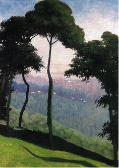 Felix Vallotton - Morning View of Honfleur (1910) (1865 - 1925)