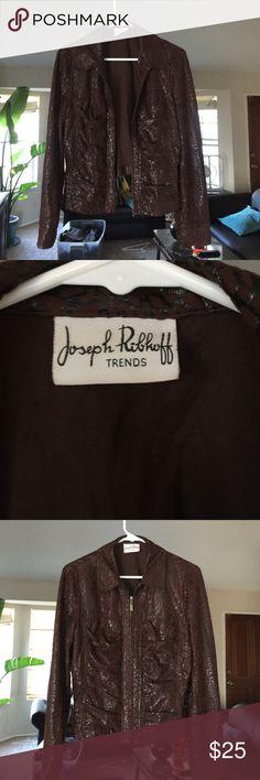 Joseph Ribkoff brown and shiny black jacket Excellent Condition Joseph Ribkoff Jackets & Coats Blazers
