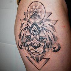 Dotwork Lion