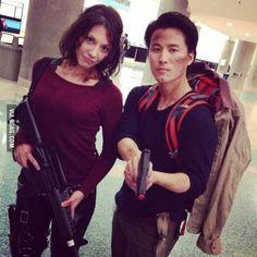 Amazing Glenn and Maggie cosplay