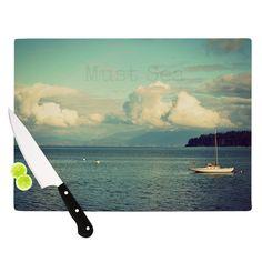 "Robin Dickinson ""Must Sea"" Ocean Cutting Board"