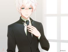 Find images and videos about anime, anime boy and mystic messenger on We Heart It - the app to get lost in what you love. Mystic Messenger Unknown, Mystic Messenger Game, Messenger Games, Mystic Messenger Characters, Jumin X Mc, Saeran Choi, Fan Art, Albino, Manga Drawing