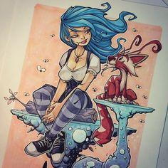 This would make a great tattoo, but I think I'd like fairy wings on the girl Chiara Bautista, Different Art Styles, Drawing Expressions, Inspirational Artwork, Character Design References, Fantastic Art, Manga Drawing, Art Sketchbook, Character Illustration